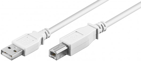 1,8m USB Kabel Druckerkabel Scannerkabel A Stecker> B Stecker PC Drucker Scanner