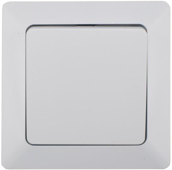 MILOS Taster weiß matt 250V~/ 10A inkl. Rahmen UP