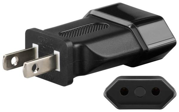 Reisestecker Adapter Euro Buchse CEE 7/16 zu Stecker USA Kanada Typ A NEMA 1-15