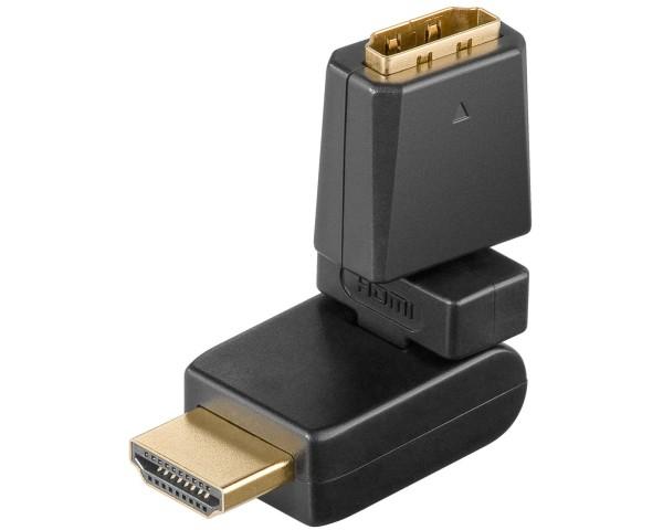 Goobay® HDMI Winkel Adapter Kupplung Buchse zu Stecker abwinkelbar 360° drehbar