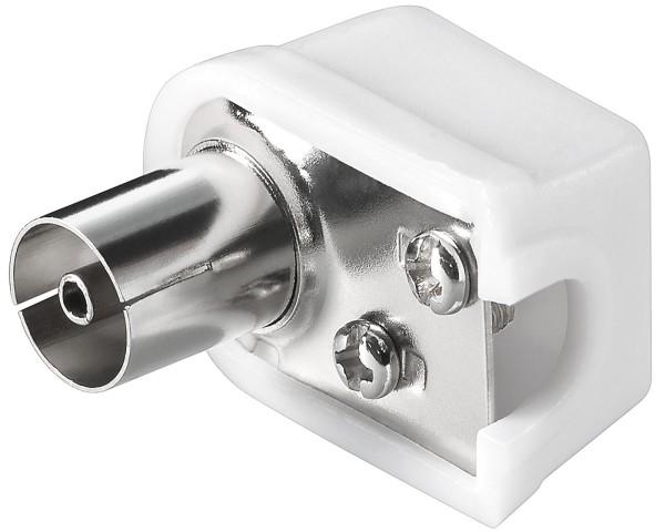 1 Stück Koax Winkel Kupplung rund Antennen Buchse 9,5mm SAT TV Koaxial Kabel