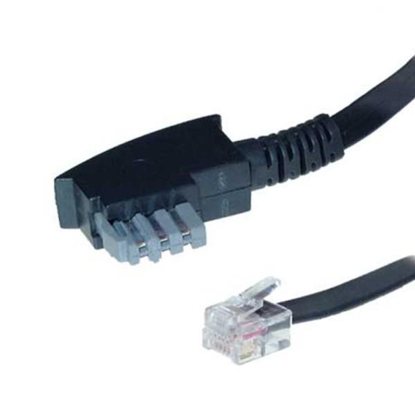 6m Telefon Kabel TAE-N > RJ12 6/6 Western geeignet für Philips Pansonic Geräte