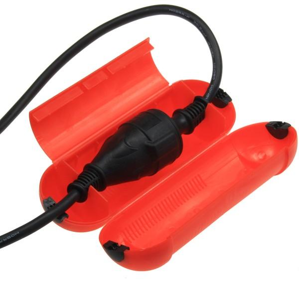 1Stück Sicherheits Regen Box Schneebox Schuko Kabel Stecker Schutz Kupplung IP44