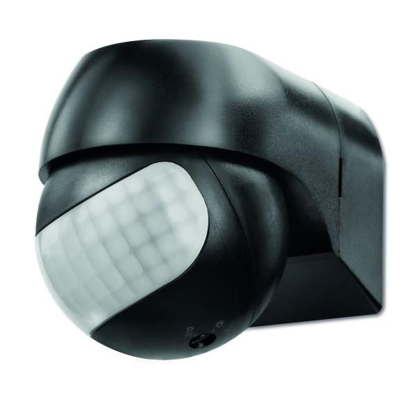 Sonero Mini Bewegungsmelder 180° schwarz 230V LED 1-800W 12m 10Sec.-12Min. IP44