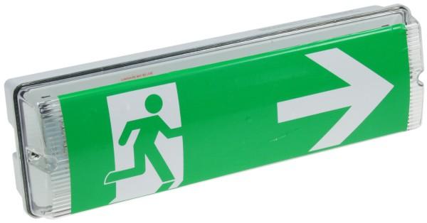 LED Notausgang Fluchtwegleuchte Notleuchte Notbeleuchtung Notlicht Akku 4Sticker
