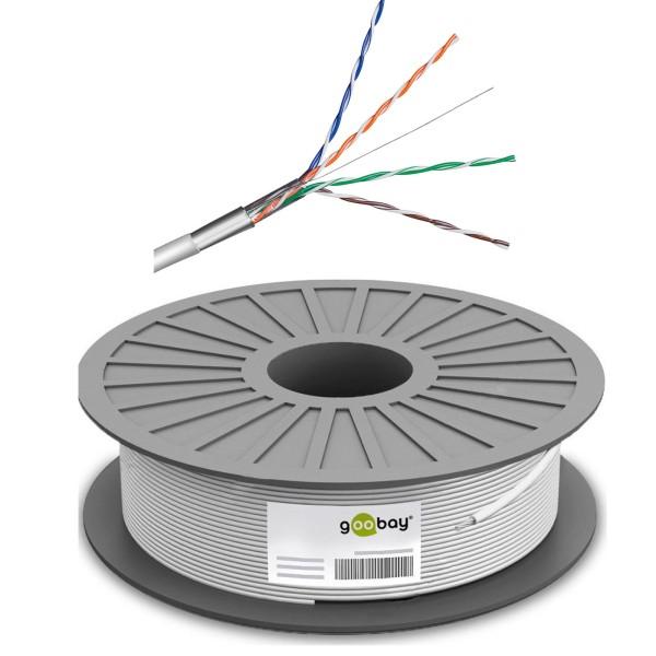 100m/---€m Netzwerk Kabel Cat5e FTP Verlegekabel Installationskabel LAN Gigabit