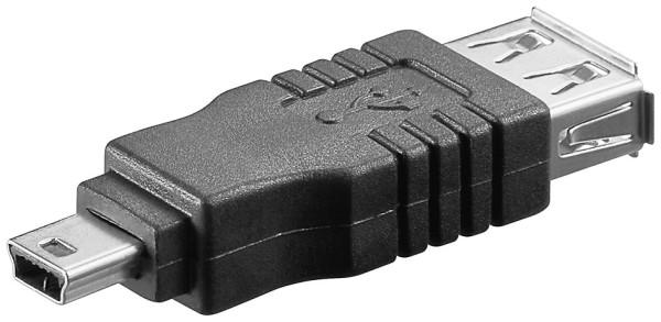 USB 2.0 Adapter USB Mini-B 5pol Stecker zu USB A-Buchse Händy Tablet Smartphone