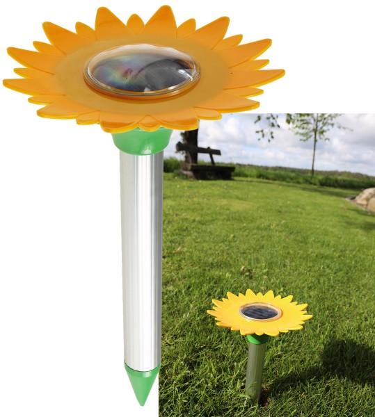 Maulwurf- und Wühlmausschreck SOLAR Sunflower Maus Vertreiber Schreck für 800m²