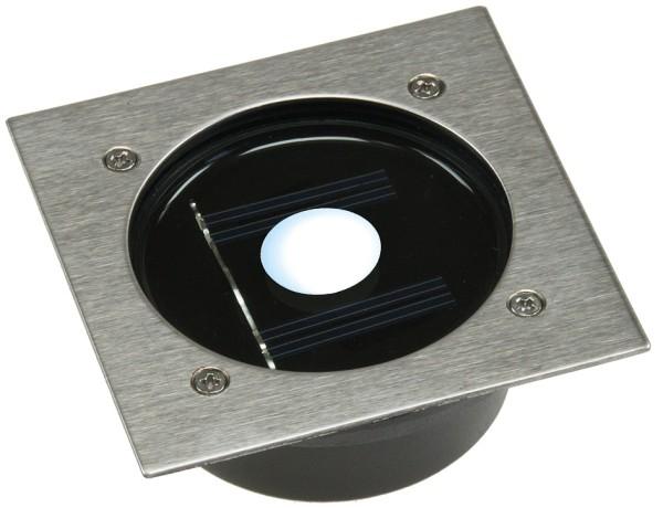 LED Edelstahl Solar Bodenstrahler in eckig IP44 Dämmerungs Sensor befahrbar 2T