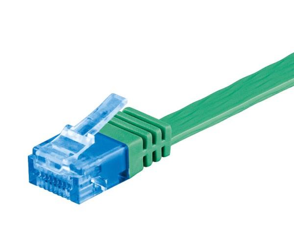 1m CAT 6a Patchkabel Flachkabel 500MHz U/UTP 2xRJ45 Netzwerk Kabel grün 1 m
