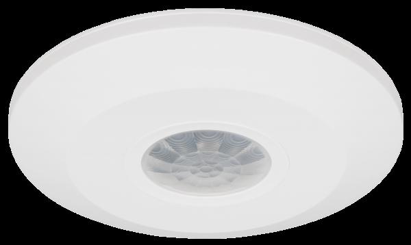 Decken Bewegungsmelder 360° extrem flach 230V 1-2000W max. 6m LED geeignet weiß