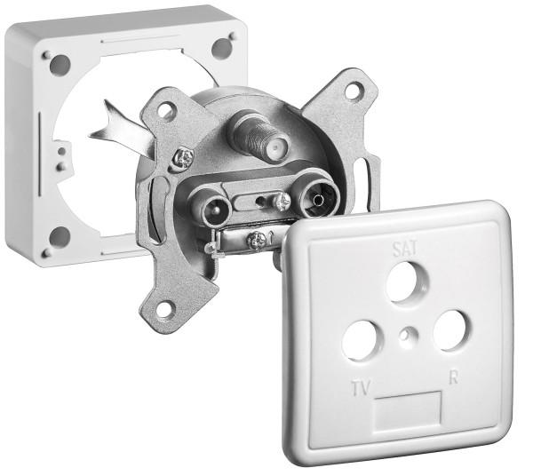 Sat Antennen Dose Kabel Anschluss Dose 3fach End Dose Aufputz + Unterputz