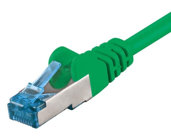 1,5m Patchkabel CAT 6a 500MHz Netzwerkkabel LS0H S/FTP PIMF Lan DSL grün CAT6a