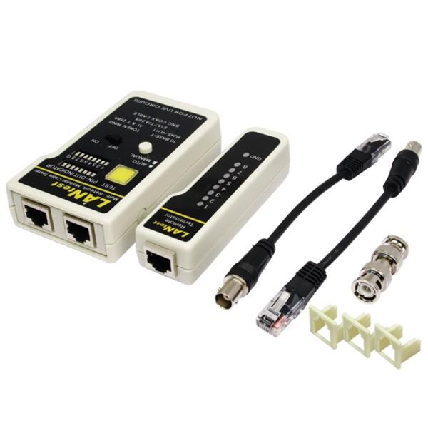 Logilink® Profi Kabeltester Netzwerktester RJ11 RJ12 RJ45 BNC CAT5 CAT6 Netzwerk