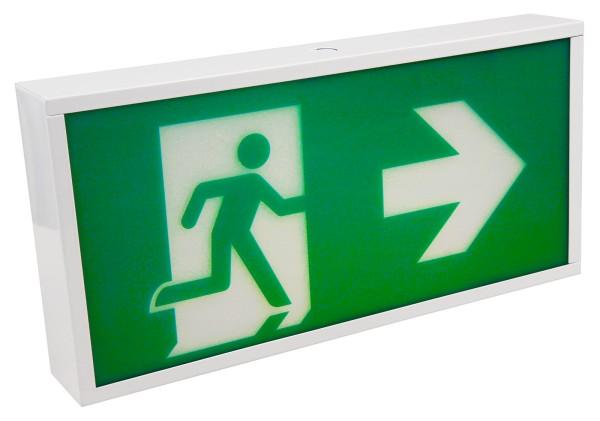 LED Fluchtwegleuchte Notleuchte Notbeleuchtung Notausgang Notlicht Akku 4Sticker