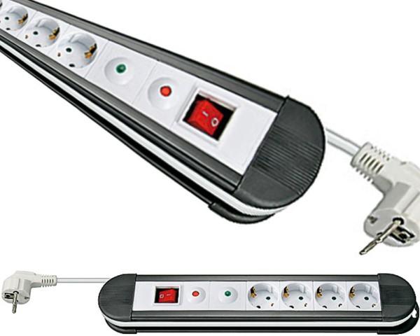 Goobay® Steckdosenleiste 4-fach Überspannungsschutz An Aus Schalter 1,5m Kabel