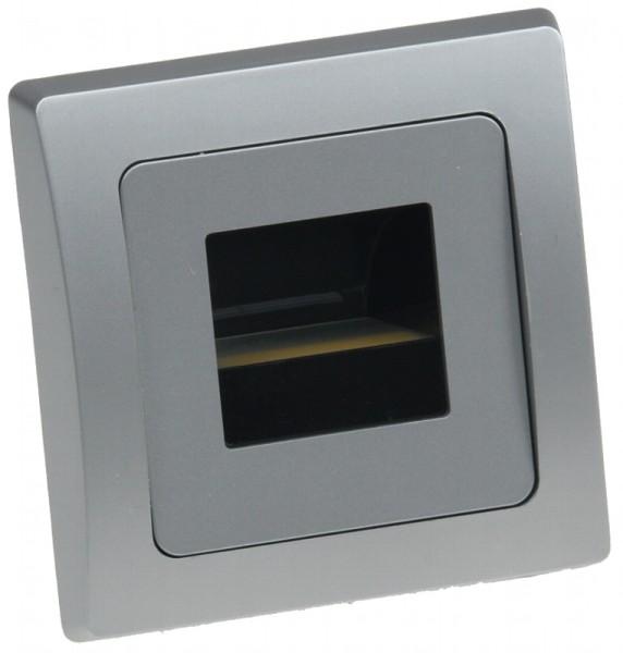 """LED-Einbauleuchte DELPHI """"COB"""" silber 80x80mm 3000k warmweiß 110Lumen"""