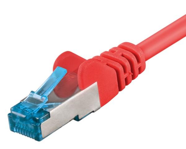7,5m Patchkabel CAT 6a 500MHz Netzwerkkabel LS0H S/FTP PIMF Lan DSL rot CAT6a