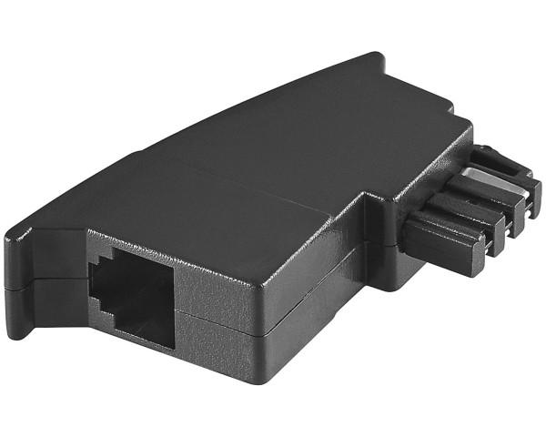 1 Stück Telefon Adapter TAE-F Stecker auf RJ-11 RJ11 Buchse Modularkupplung 6P4C
