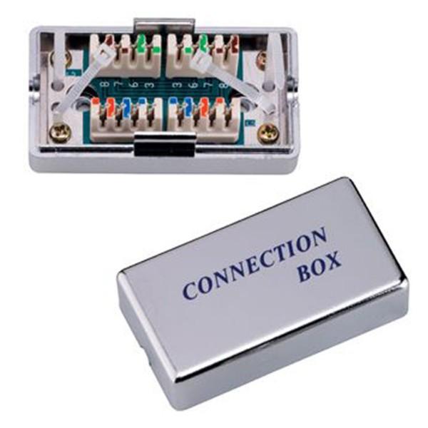 Cat 6 LSA Anschlussbox Netzwerk Kabel Verbinder LAN 2*RJ45 Verlängerung TP