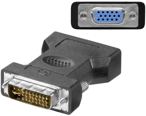 Adapter DVI-I 24+5 Stecker zu VGA Buchse Monitoradapter TFT PC Digital zu Analog