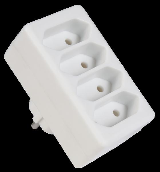 4 Fach Steckdosen Adapter Verteiler Stecker Euro Mehrfachstecker Stromadapter