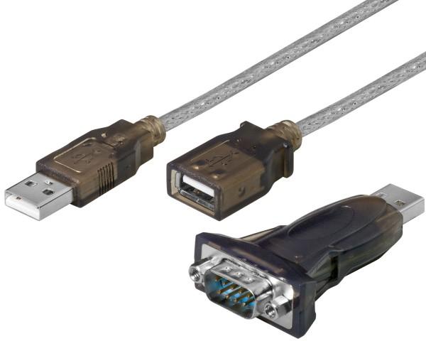 "USB auf seriell RS232 Konverter Adapter Kabel USB ""A"" Stecker > 9-pol. SUB-D St."
