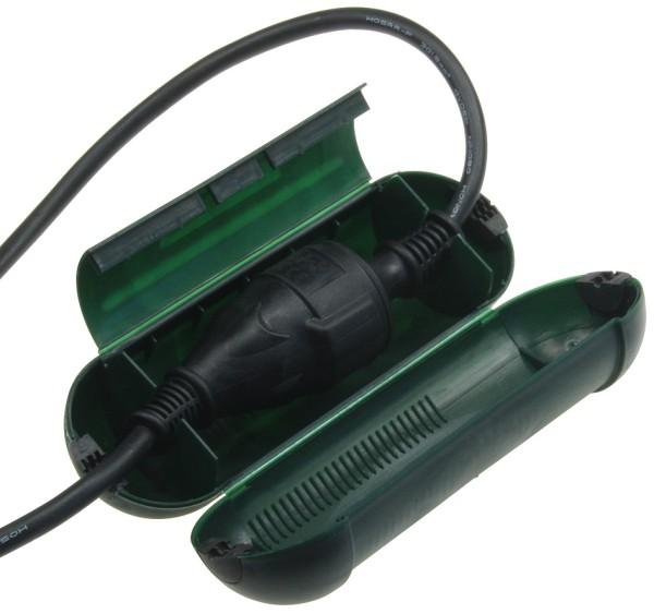 1Stück Sicherheits Box Regen Schneebox Schuko Kabel Stecker Schutz Kupplung IP44