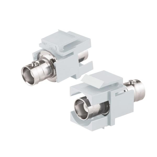 Keystone Modul BNC Buchse Gender Changer weiß SNAP-IN Adapter Verbinder