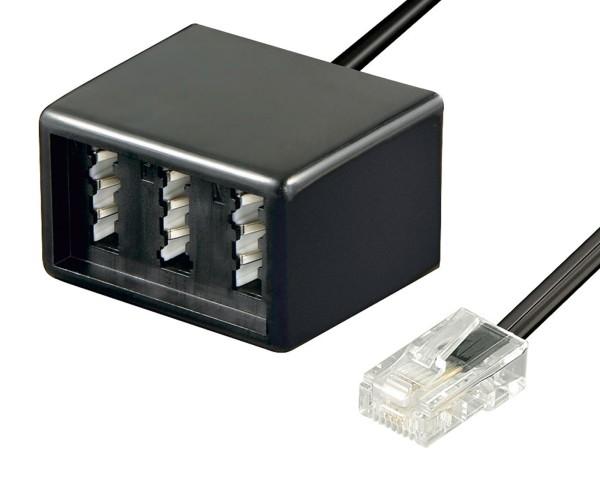 Telefon Adapter RJ45 (8P8C) Stecker ISDN zu TAE Buchsen NFF 0,2m Anschlusskabel