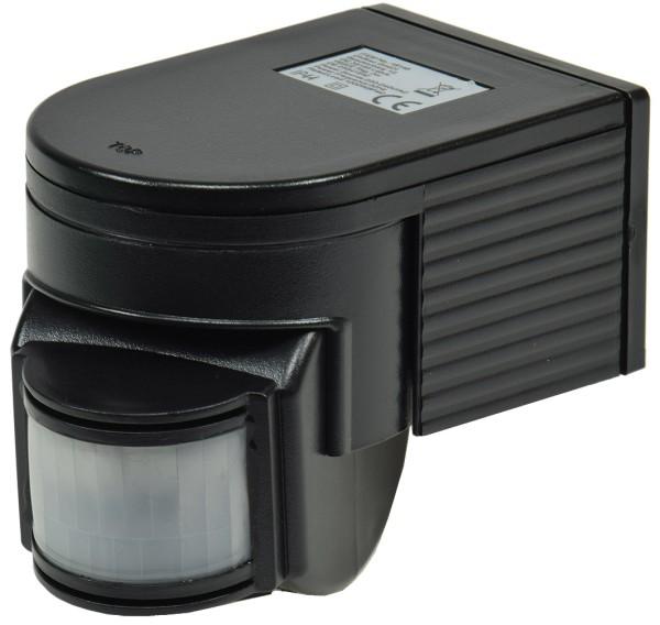 Bewegungsmelder in schwarz 180° Außen IP44 IR max.12m LED 1 -1000Watt 10sec-8min