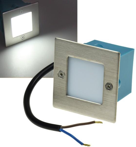 1er Set LED Einbauleuchte Edelstahl Wandleuchte Treppenlicht weiß IP54 230V
