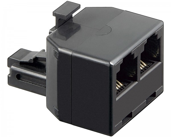 Goobay® Telefon Y Adapter Verteiler RJ12 Western 6P6C 1M>2F