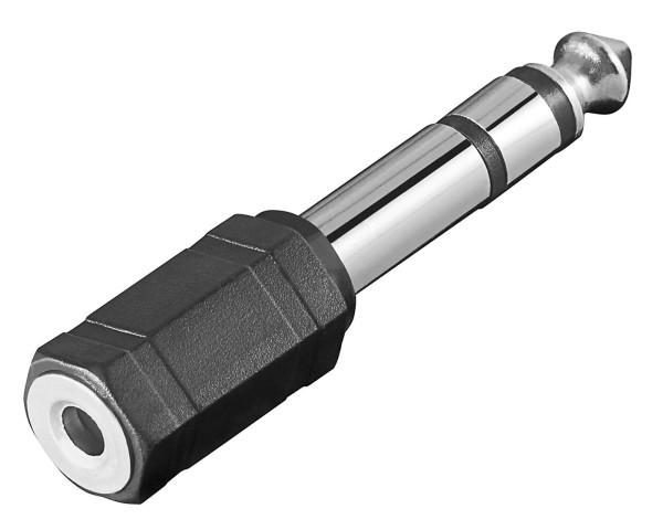 Goobay® Audio Adapter Stereo Klinke 6,35 mm Stecker auf 3,5 mm Kupplung