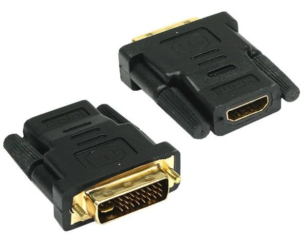 Adapter HDMI 19pol Kupplung (weiblich) DVI-D Stecker (männlich) 24+1