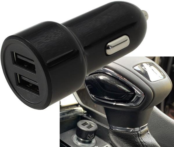 USB Auto Ladegerät 2*USB Buchse 4.8A KFZ Adapter für Zigarettenanzünder 12V 24V