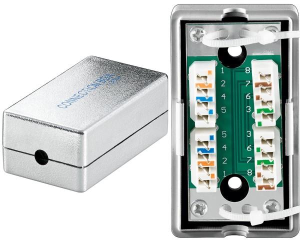 Cat.5e LSA Anschlussbox Netzwerk Kabel Verbinder LAN 2*RJ45 Verlängerung STP