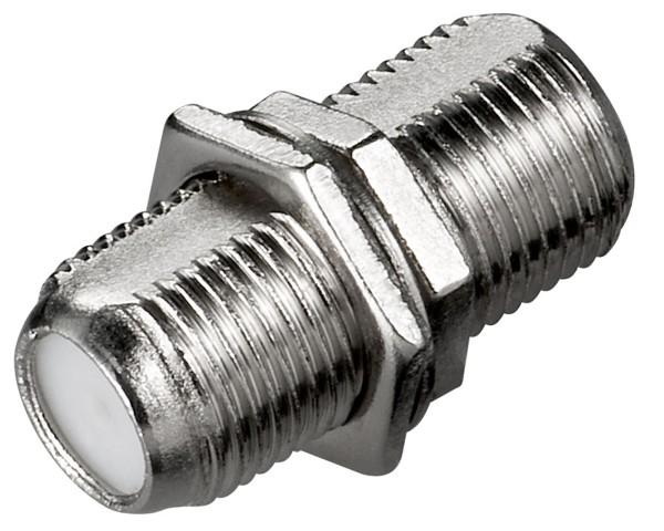 Goobay® F-Kupplung > F-Buchse +Mutter +Ring SAT TV Verbinder Koax-Kabel