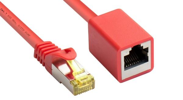10m Netzwerkkabel Patchkabel Verlängerung mit CAT7 Rohkabel S/FTP LAN DSL rot