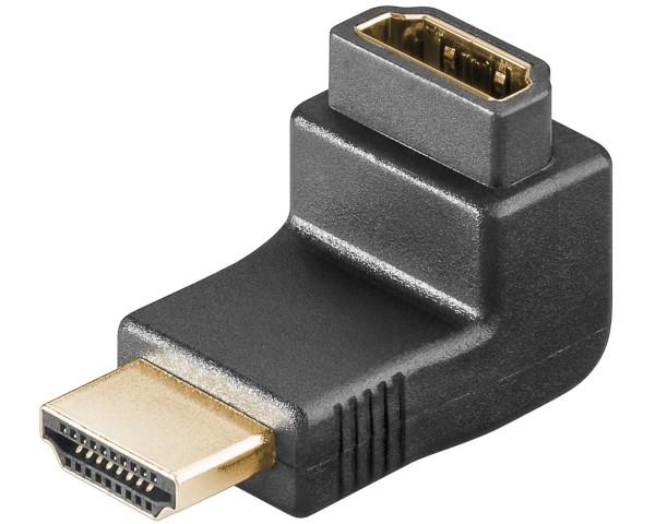 Goobay® HDMI Adapter Winkeladapter A-Stecker > A-Buchse vergoldet gewinkelt 90°