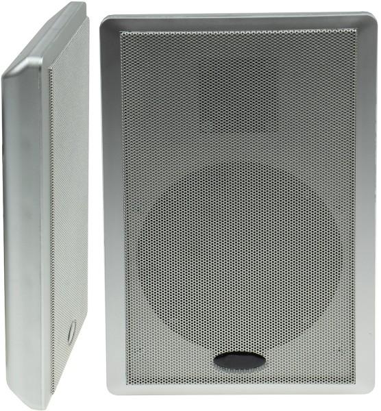 """Flatpanel Lautsprecher """"CMT-Slim"""" silber Box Surround 4Ohm 1Paar 40W 86dB 2-Wege"""
