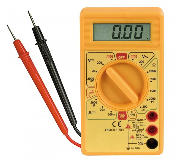 McPower Digital LCD Multimeter 19 Messbereiche (!) Thermometer Diodentester 10A