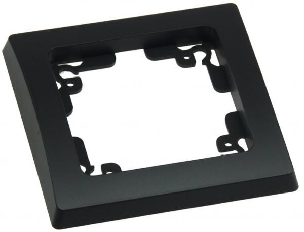 DELPHI 1-fach Rahmen matt-schwarz für Steckdose Schalter Dimmer Taster usw.