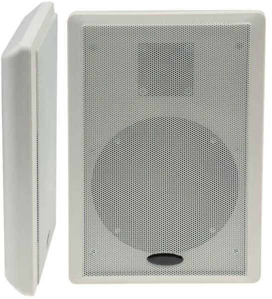 """Flatpanel Lautsprecher """"CMT-Slim"""" weiß Box Surround 4Ohm 1Paar 40W 86dB 2-Wege"""