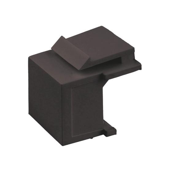 Keystone Modul Blinddeckel schwarz SNAP-IN Adapter Verbinder Blind-Modul