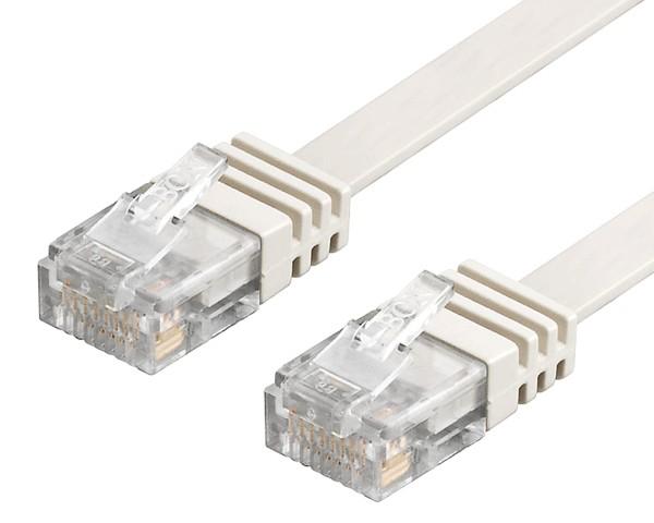 3m CAT6 Patchkabel Netzwerkkabel Flachkabel Ethernet DSL LAN Flach Kabel weiß