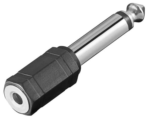 Goobay® Audio Adapter Mono Klinke 6,3 mm Stecker auf 3,5 mm Kupplung Buchse