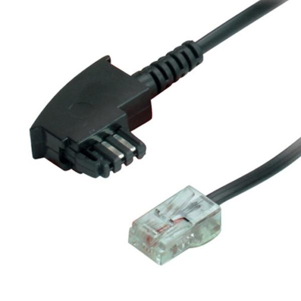 2m Telefon Kabel DSL Kabel TAE F Stecker auf RJ45 Stecker DSL VDSL Router Kabel