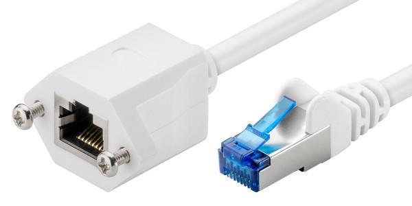 1,5m CAT 6a Netzwerkkabel Patchkabel Verlängerung S/FTP LAN DSL RJ45 Buchse weiß