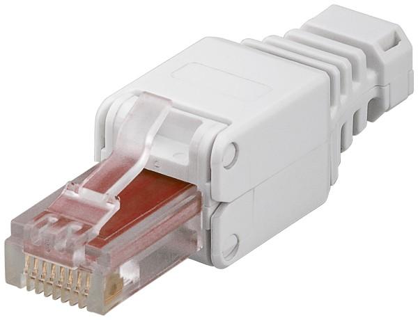 CAT6 Werkzeugfreier RJ45 Netzwerk Stecker 500Mhz für flexibel starr Knickschutz